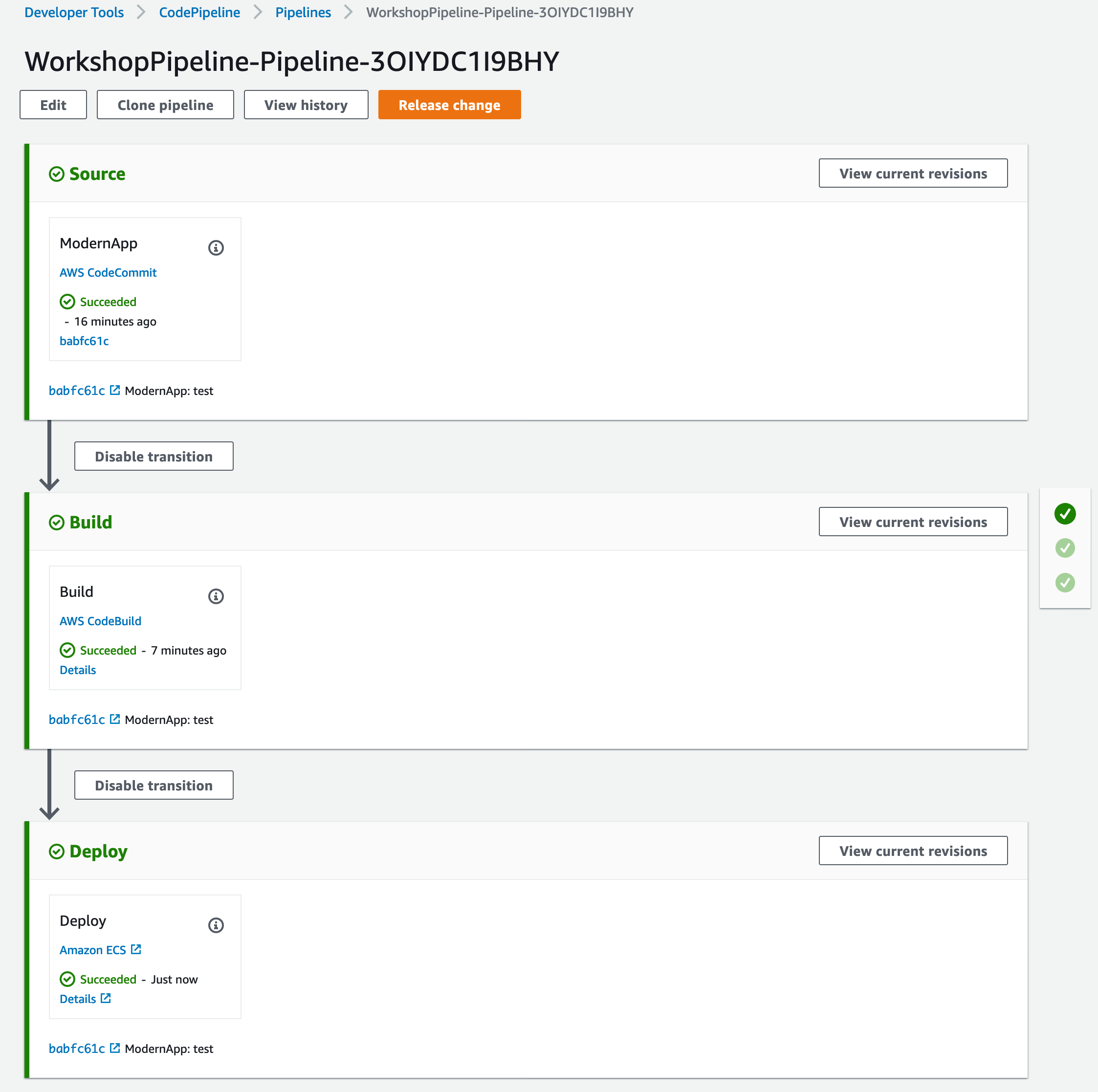 CodePipeline View